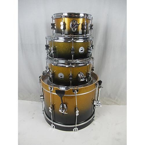 used pdp by dw daru jones new yorker drum kit black gold fade guitar center. Black Bedroom Furniture Sets. Home Design Ideas