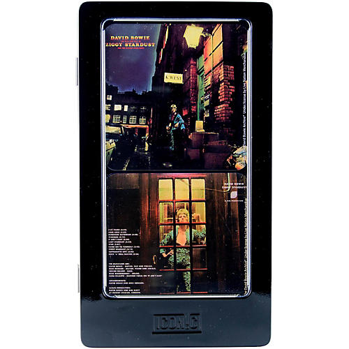 Iconic Concepts David Bowie Ziggy Stardust Metal Coaster Set with Cork Backs in Tin Gift Box