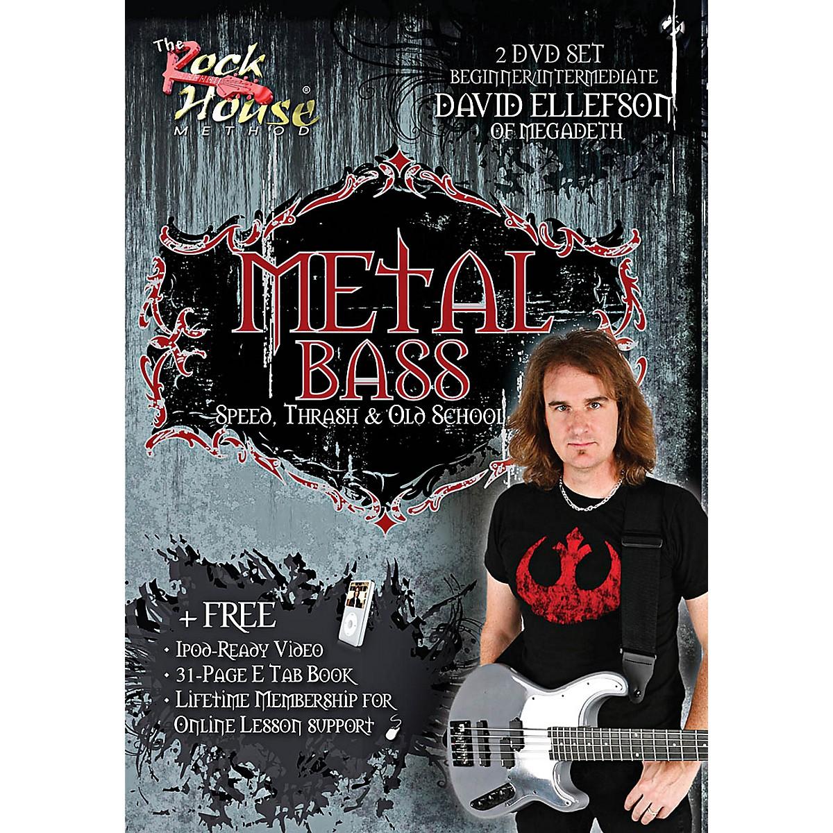 Rock House David Ellefson of Megadeth Metal Bass Speed, Thrash & Old School DVD
