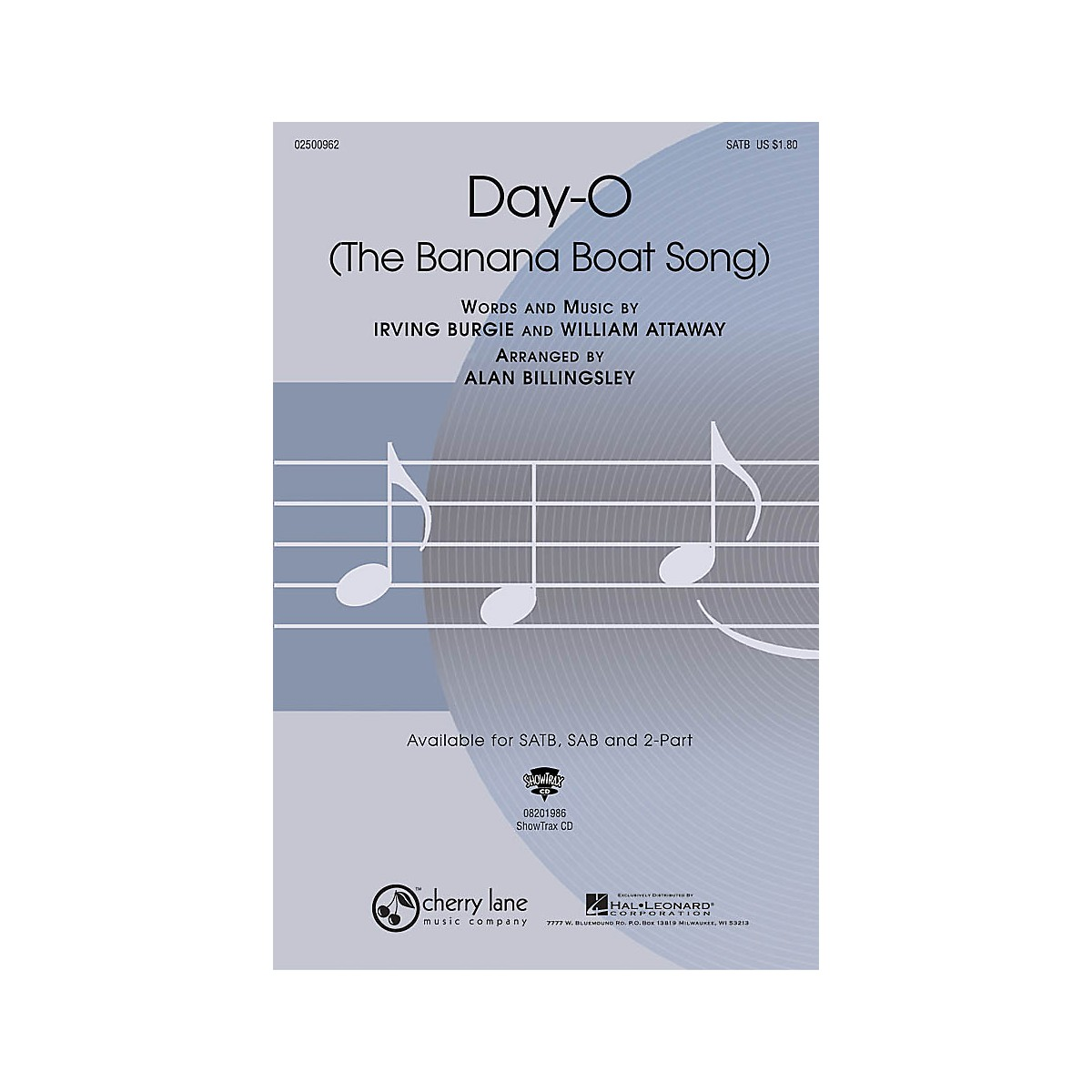 Cherry Lane Day-O (The Banana Boat Song) SATB arranged by Alan Billingsley