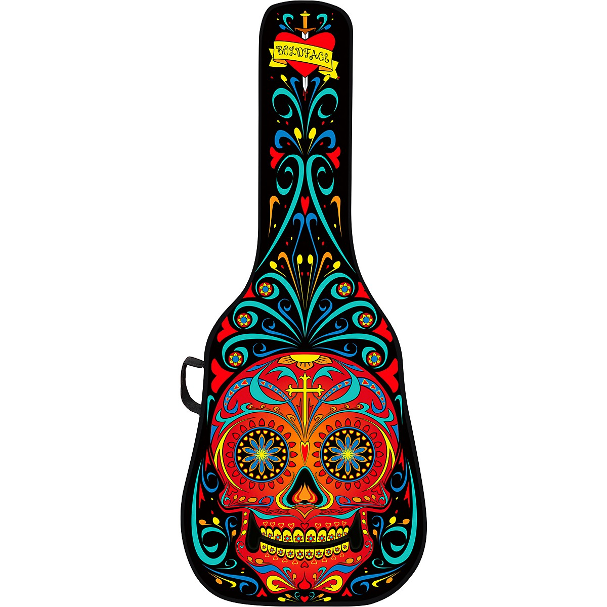 BOLDFACE Day of the Dead Acoustic Guitar Case With Graphic Face Panel