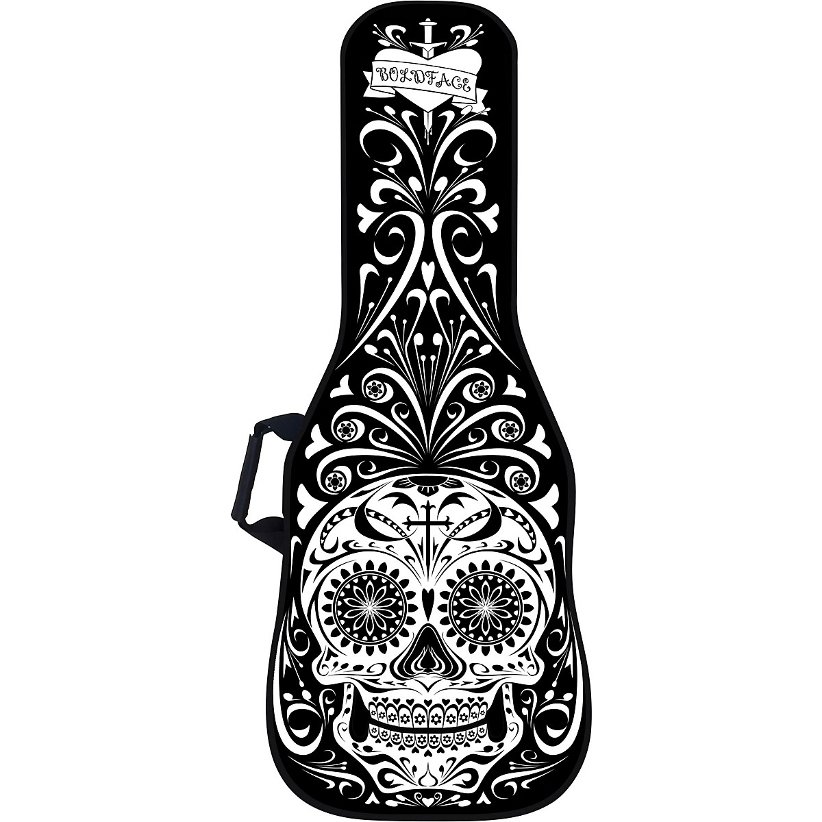 BOLDFACE Day of the Dead Electric Guitar Bag w/ Graphic Face Panel
