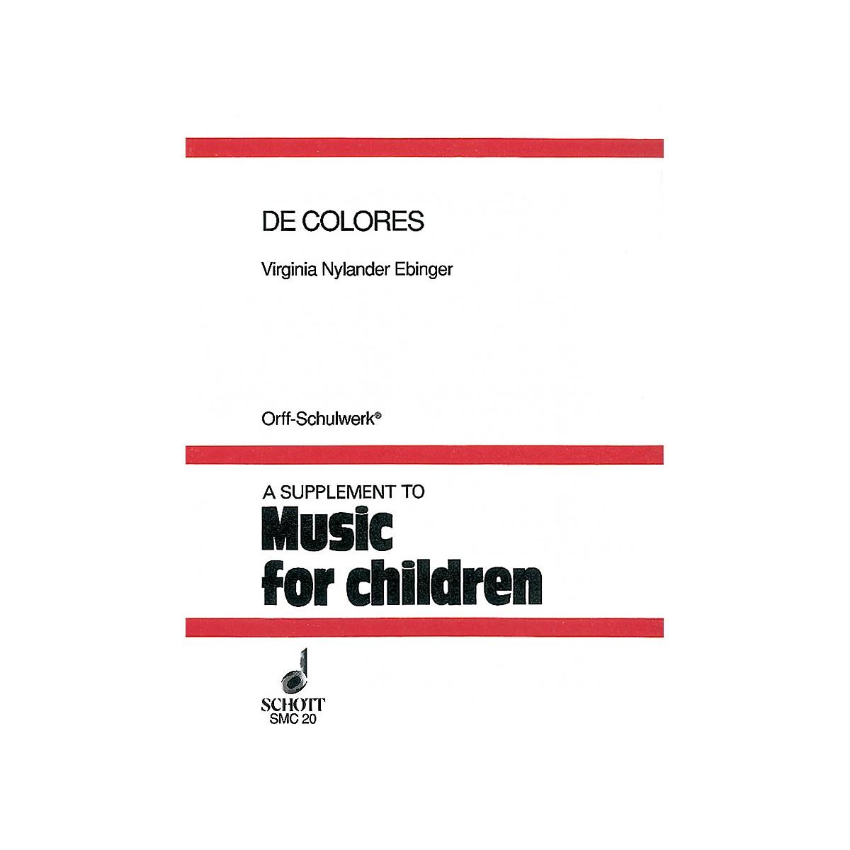 Schott De Colores (Folklore from the Hispanic Tradition) Schott Series