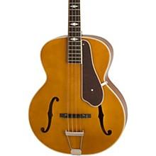 De Luxe Classic Acoustic Electric Bass Guitar Antique Natural