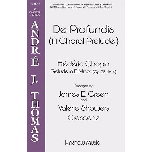 Hinshaw Music De Profundis (A Choral Prelude) SATB arranged by James E. Green