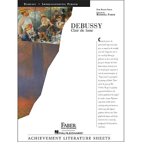Faber Piano Adventures Debussy Clair De Lune Piano Solo - Faber Piano