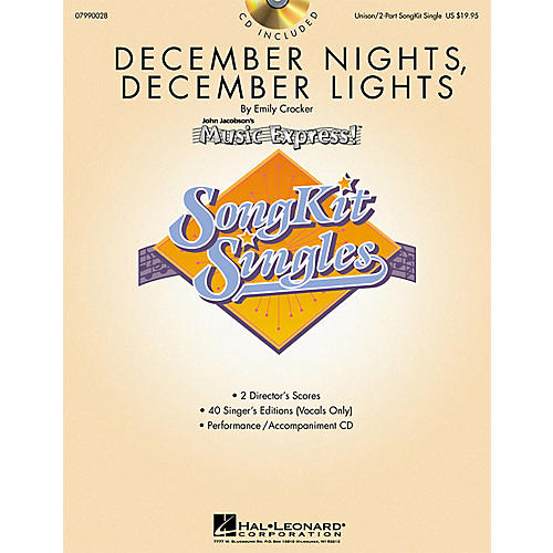 Hal Leonard December Nights, December Lights (SongKit Single) UNIS/2PT Composed by Emily Crocker