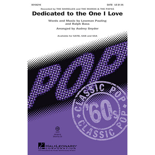 Hal Leonard Dedicated to the One I Love ShowTrax CD by The Mamas & the Papas and The Shirelles Arranged by Audrey Snyder