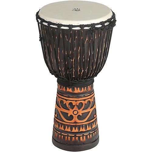 X8 Drums Deep Carve Antique Chocolate Djembe Drum