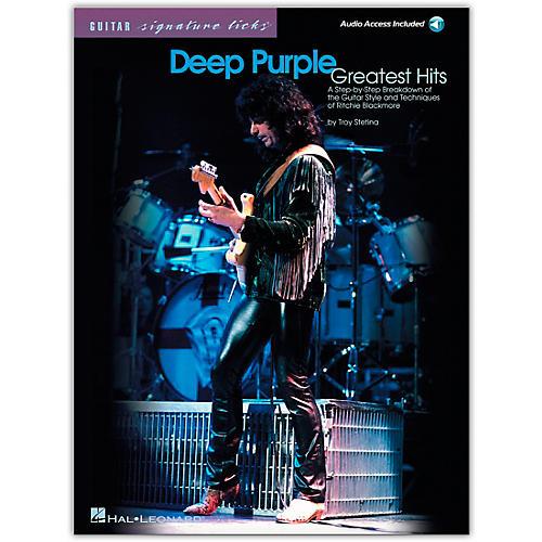 Hal Leonard Deep Purple Greatest Hits Guitar Signature Licks (Book/Online Audio)