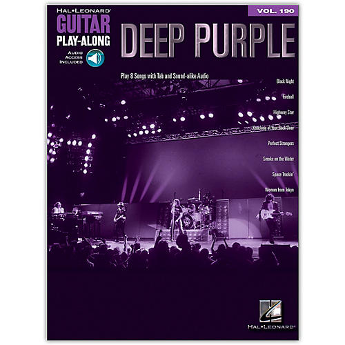 Hal Leonard Deep Purple Guitar Play-Along Volume 190 Book/Audio Online