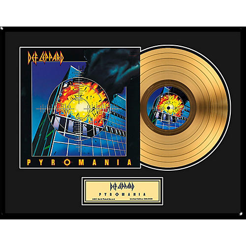 24 Kt. Gold Records Def Leppard - Pyromania Gold LP - Limited Edition of 2,500