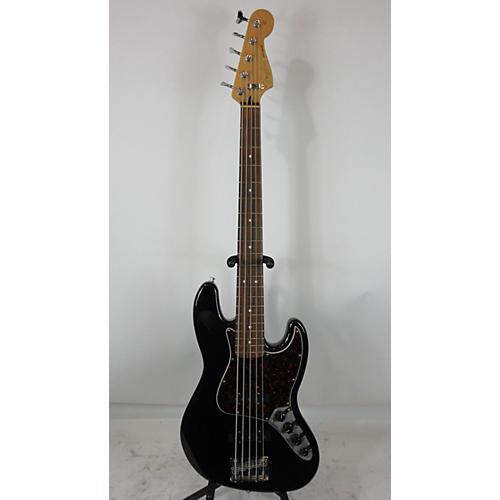 used fender deluxe active jazz bass v 5 string electric bass guitar black guitar center. Black Bedroom Furniture Sets. Home Design Ideas