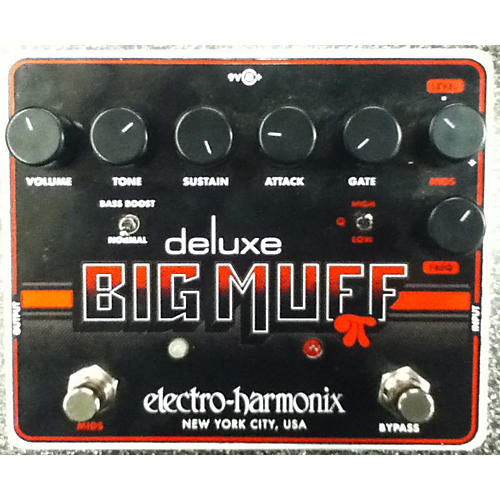 Electro-Harmonix Deluxe Big Muff Sustain Black And Red Effect Pedal