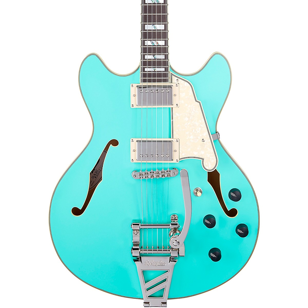 D'Angelico Deluxe DC Semi-Hollow Electric Guitar with D'Angelico Shield Tremolo