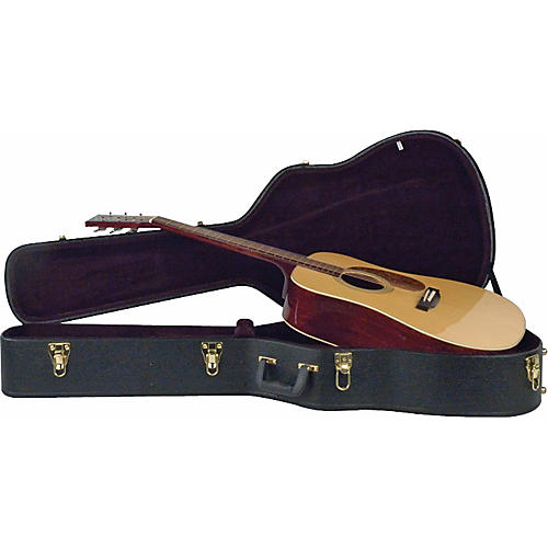 musician 39 s gear deluxe dreadnought case black guitar center. Black Bedroom Furniture Sets. Home Design Ideas