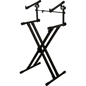 on stage deluxe heavy duty x 2 tier keyboard stand guitar center. Black Bedroom Furniture Sets. Home Design Ideas