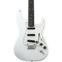 Deluxe Hot Rails Strat Electric Guitar Olympic White