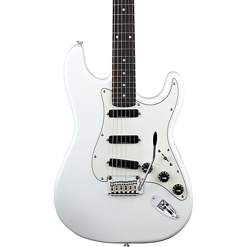 squier deluxe hot rails strat electric guitar olympic white guitar center. Black Bedroom Furniture Sets. Home Design Ideas
