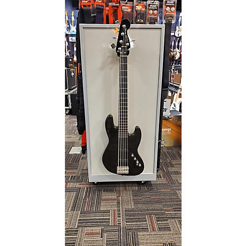 used squier deluxe jazz bass active v 5 string electric bass guitar black guitar center. Black Bedroom Furniture Sets. Home Design Ideas