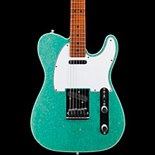 Deluxe Journeyman Relic Telecaster Electric Guitar Sea Foam Green Sparkle