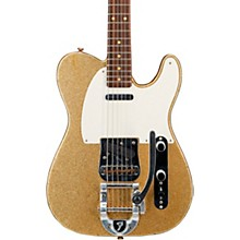 Deluxe Journeyman Relic Twisted Telecaster Bigsby Electric Guitar Gold Sparkle
