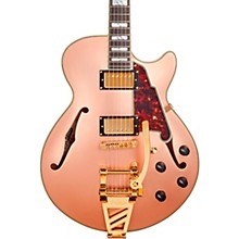 Deluxe SS Semi-Hollow Electric Guitar with D'Angelico Shield Tremolo Matte Rose Gold
