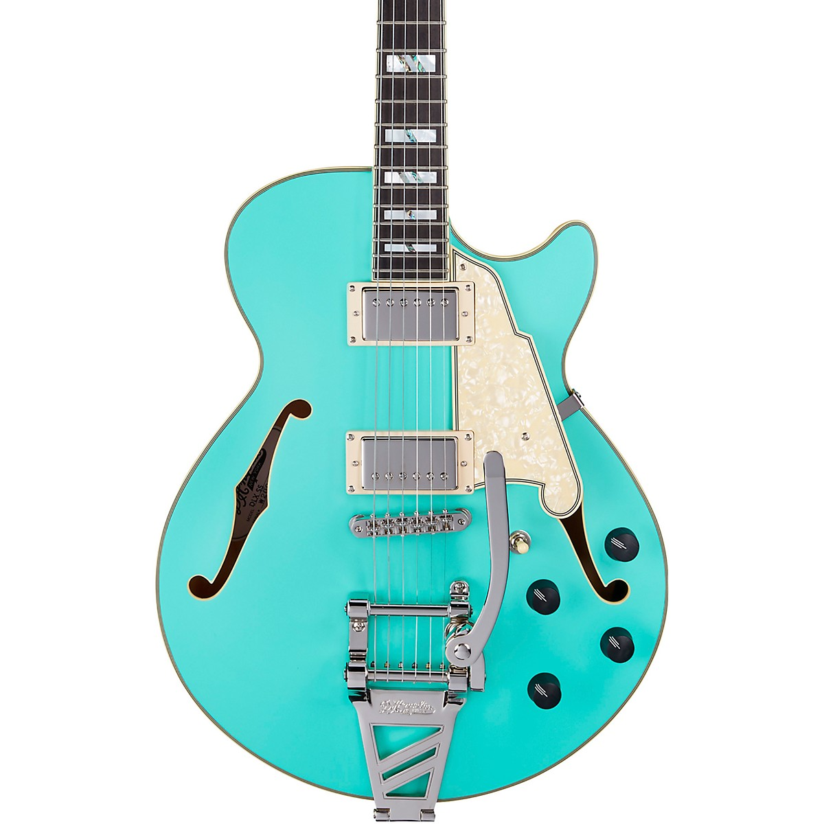 D'Angelico Deluxe SS Semi-Hollow Electric Guitar with D'Angelico Shield Tremolo