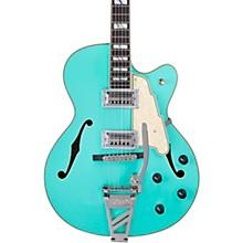 Deluxe Series 175 Hollowbody Electric Guitar USA TV Jones Humbuckers D'Angelico Shield Tremolo Matte Surf Green
