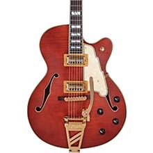 Deluxe Series 175 Hollowbody Electric Guitar USA TV Jones Humbuckers D'Angelico Shield Tremolo Matte Walnut