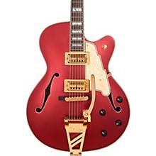 Deluxe Series 175 Hollowbody Electric Guitar USA TV Jones Humbuckers D'Angelico Shield Tremolo Matte Wine