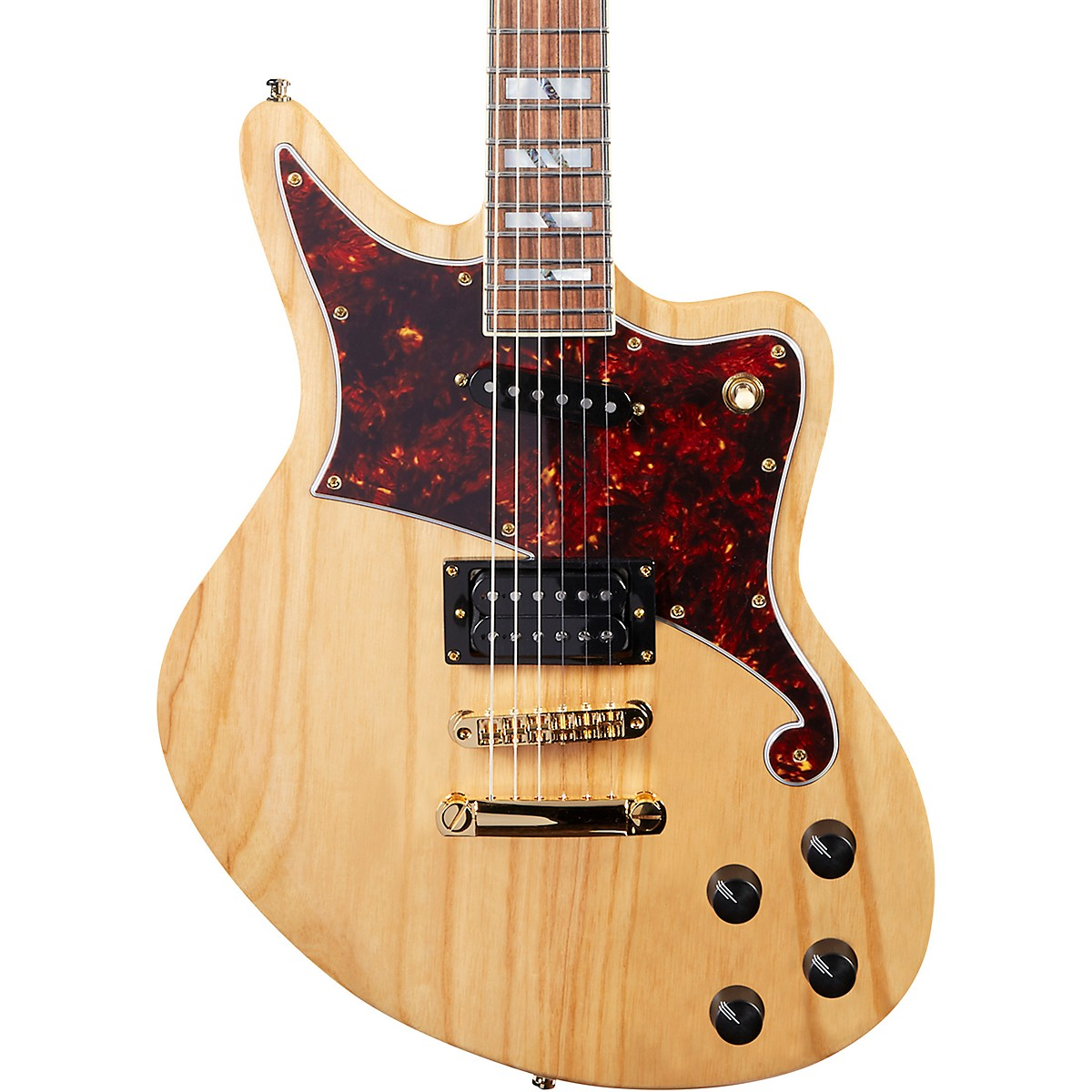 D'Angelico Deluxe Series Bedford Swamp Ash Electric Guitar with Seymour Duncan Pickups and Stopbar Tailpiece