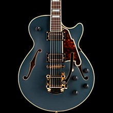 D'Angelico Deluxe Series Bob Weir SS Limited Edition Signed Semi-Hollowbody Guitar with Custom Seymour Duncan Pickups and Bigsby B-50 Ebony