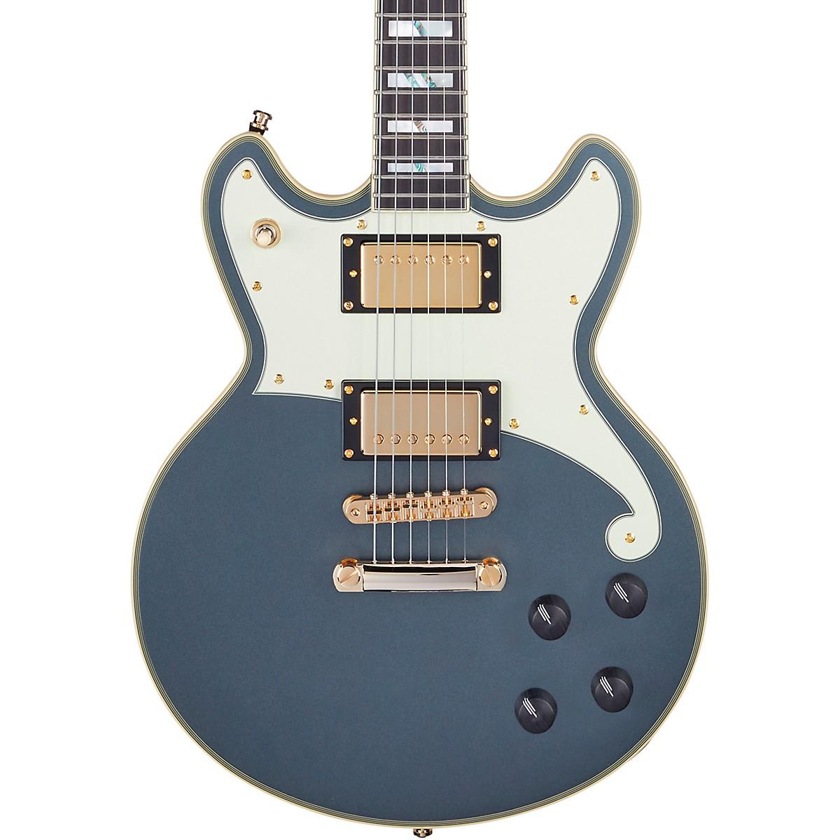 D'Angelico Deluxe Series Brighton Limited-Edition Solidbody Electric Guitar with USA Seymour Duncan Humbuckers and Stopbar Tailpiece