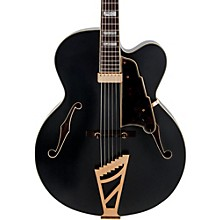 Deluxe Series EXL-1 Hollowbody Electric Guitar with Seymour Duncan Floating Pickup and Stairstep Tailpiece Level 2 Midnight Matte 190839791610