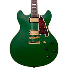 Deluxe Series Limited Edition DC Non F-Hole Semi-Hollowbody Electric Guitar Matte Emerald Tortoise Pickguard