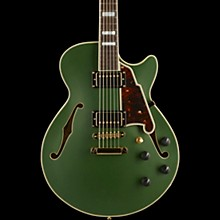 D'Angelico Deluxe Series Limited Edition SS  Semi-Hollowbody Electric Guitar with Custom Seymour Duncan Pickups Matte Emerald Tortoise Pickguard