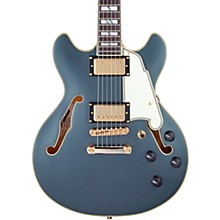 Deluxe Series Mini DC With USA Seymour Duncan Humbuckers Limited-Edition Semi-Hollow Electric Guitar Matte Charcoal