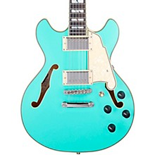 Deluxe Series Mini DC With USA Seymour Duncan Humbuckers Limited-Edition Semi-Hollow Electric Guitar Matte Surf Green