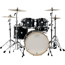 Design Series 5-Piece Lacquer Shell Pack with Chrome Hardware Satin Black