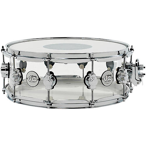 93d4b26661c0 DW Design Series Acrylic Snare Drum with Chrome Hardware 14 x 5.5 in ...