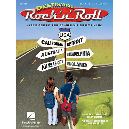 Hal Leonard Destination Rock 'n' Roll (Choral Revue) 2 Part Singer Arranged by Mark Brymer