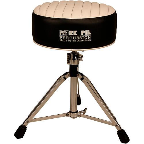 Pork Pie Deuce Tuck and Roll Round Drum Throne