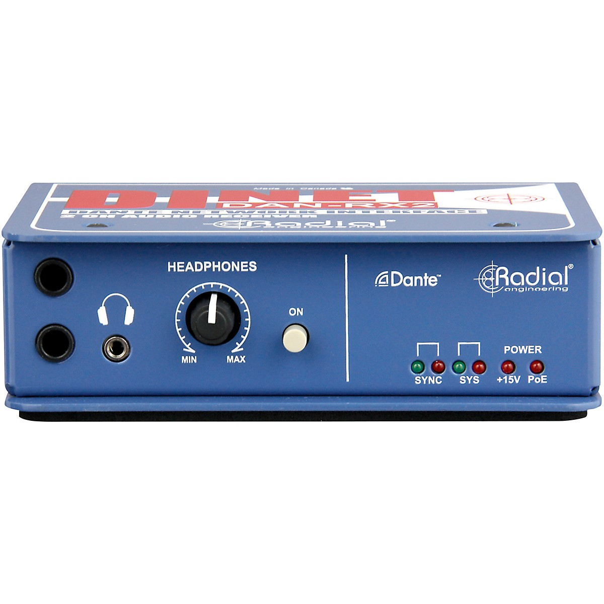 Radial Engineering DiNET DAN-RX2 2-Channel Dante Network Receiver