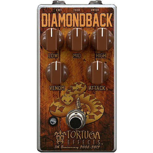Tortuga Diamondback British Drive Guitar Overdrive Effects Pedal