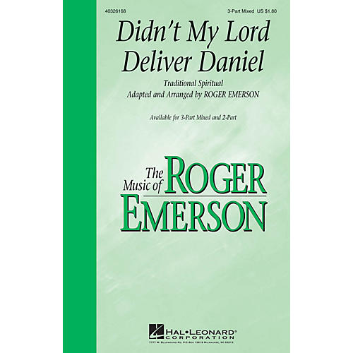 Hal Leonard Didn't My Lord Deliver Daniel 2-Part Arranged by Roger Emerson