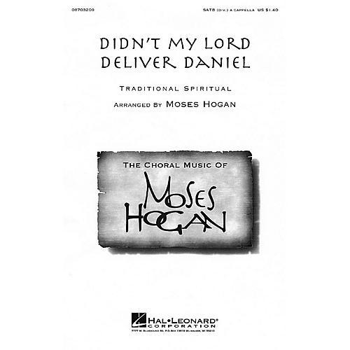 Hal Leonard Didn't My Lord Deliver Daniel SATB DV A Cappella arranged by Moses Hogan