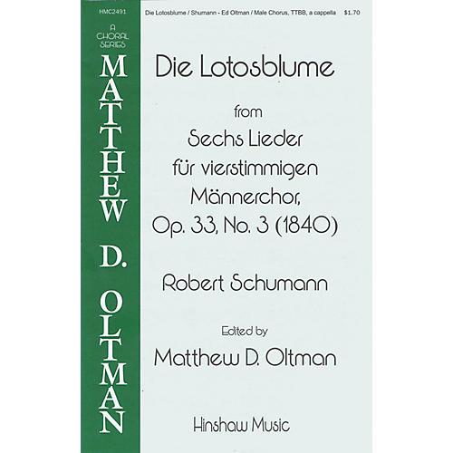 Hinshaw Music Die Lotosblume TTBB A Cappella arranged by Matthew Oltman