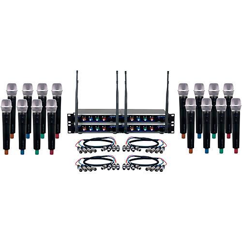 VocoPro Digital-Acapella-16 16-Channel UHF Wireless Handheld Microphone System