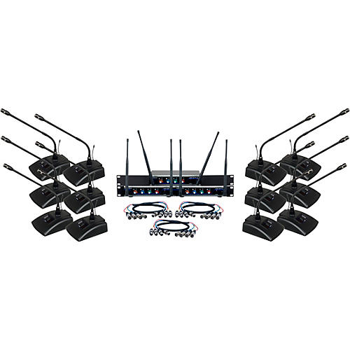 Vocopro Digital-Conference-12 Twelve Channel UHF Wireless Conference Microphone System